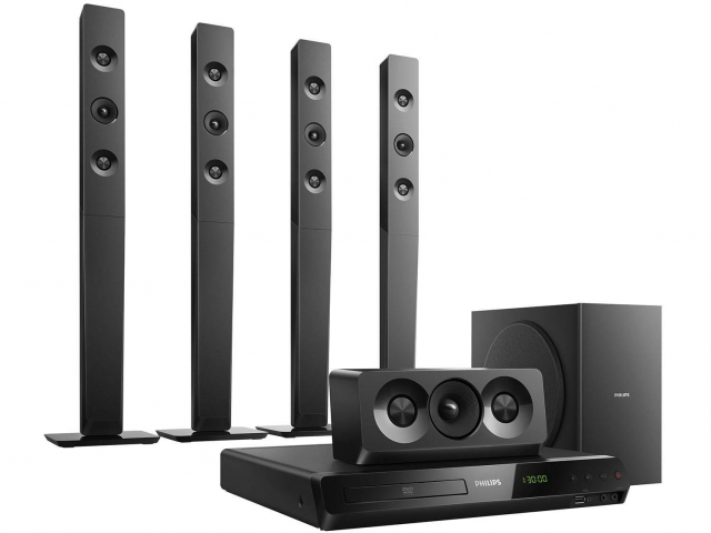 Leilão Home Theater Philips HTD5580X/78 1000W RMS - 5.1