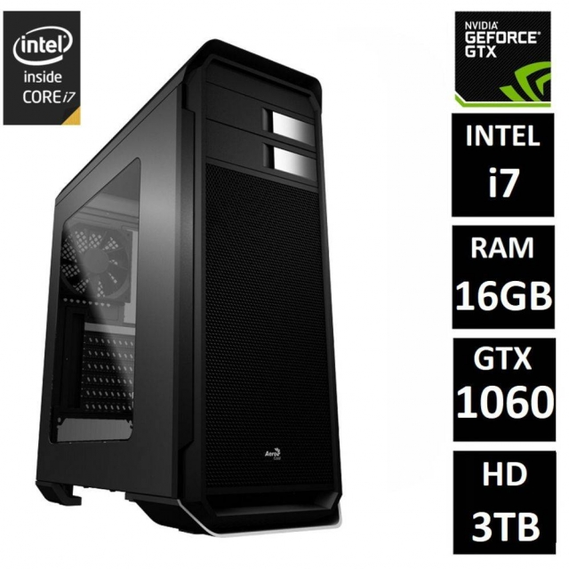 Leilão PC Gamer Intel Core i7 16GB (GeForce GTX 1060 6GB)